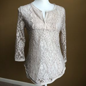 Tops - Beautiful boutique nude lace top